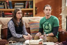 """""""The Cohabitation Experimentation"""" -- Pictured: When Amy's apartment floods, she proposes a """"cohabitation experiment"""" with Sheldon. Also, Howard and Bernadette are upset when Koothrappali learns the gender of the baby before them, on THE BIG BANG THEORY, Monday, Oct. 10 (8:00-8:31 PM, ET/PT), on the CBS Television Network. Photo: Michael Yarish/Warner Bros. Entertainment Inc. © 2016 WBEI. All rights reserved."""