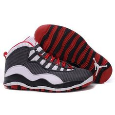 fadf2751cc5d Air Jordan 10 Men Mesh Grey   White   Varsity Red Shoes  54.30 Jordan Retro  10