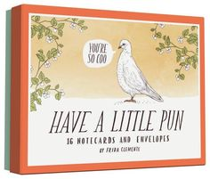 Have a Little Pun: 16 Notecards and Envelopes by Frida Cl... https://www.amazon.com/dp/1452144176/ref=cm_sw_r_pi_dp_x_sF-kybVYNTQJD