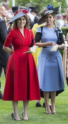 Speaking in British Vogue this week, Eugenie and Beatrice (pictured at Royal Ascot in June discussed living in the public eye and said they constantly face 'mockery' and criticism Source by khozapt dresses African Print Fashion, African Fashion Dresses, African Dress, Fashion Outfits, Eugenie Of York, African Traditional Dresses, Royal Clothing, Royal Dresses, Princess Style