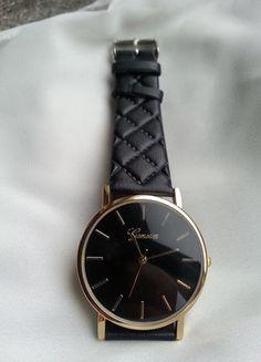 Kup mój przedmiot na #vintedpl http://www.vinted.pl/akcesoria/bizuteria/18439918-zegarek-geneva-pikowany-czarny-nowy-idealny-na-prezent-komunie