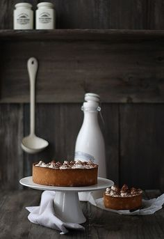 Chocolate Cream And Salted Caramel Tart