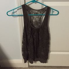 Lace tank top Worn a few times great condition. Express Tops Tank Tops