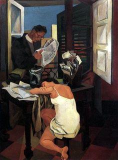 History of Art: Renato Guttuso Italian Painters, Italian Artist, Cultural, Couple Art, Palermo, Figure Painting, Contemporary Paintings, Figurative Art, Modern Art