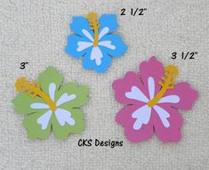 Die Cut HIBISCUS Flowers Luau Tiki Hawaii Party Scrapbook Page Embellishments for Card Making Scrapbook or Paper Crafts Tiki Hawaii, How To Make Scrapbook, Crafts For Kids, Diy Crafts, Tropical Party, Luau Party, Hibiscus Flowers, Paper Piecing, Paper Design