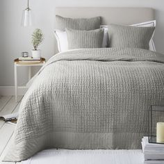 Shoreditch Quilts & Cushion Covers | Cushions, Bedspreads & Throws | Bedroom | The White Company US