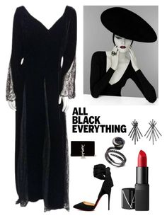 """""""Vintage Elegance"""" by kotnourka on Polyvore featuring Bill Blass, Christian Louboutin, NARS Cosmetics, Yves Saint Laurent, Bling Jewelry and vintage"""