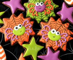 Spiderweb spider Halloween coolies