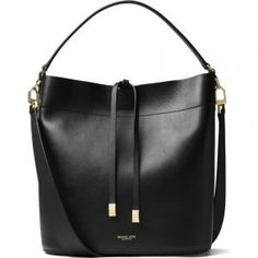 Buy Michael Kors Black Miranda Large Leather Shoulder Bag Store, With a spacious silhouette, our large Miranda shoulder bag is a thing of beauty. Michael Kors Style, Michael Kors Fashion, Handbags Michael Kors, Michael Kors Black, Calf Leather, Leather Shoulder Bag, Shoulder Strap, Black Leather, Black Gold