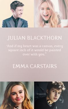 Julian Blackthorn and Emma Carstairs Lady Midnight The Dark Artificies The Mortal Instruments ~claire_valdez Emma Carstairs, Jace Wayland, Cassandra Clare, Serie Got, Julian Blackthorn, Lady Midnight, Cassie Clare, Shadowhunters Tv Show, Nick Robinson