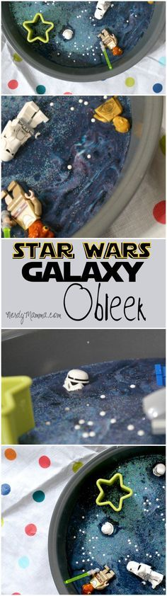 My kids had so much fun playing with this galaxy obleek. It was like the set of star wars laid-down on our table to play! LOL!