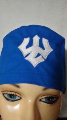 Washington and Lee logo embroidered on a male scrub cap