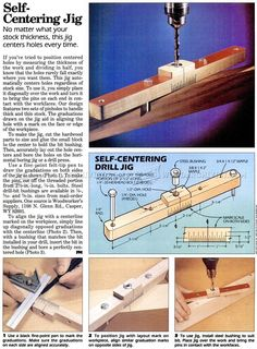 V-Block Drill Jig - Drill Tips, Jigs and Fixtures - Woodwork, Woodworking, Woodworking Plans, Woodworking Projects Woodworking Software, Woodworking Basics, Woodworking Joints, Woodworking Classes, Woodworking Shop, Woodworking Crafts, Woodworking Plans, Woodworking Jigsaw, Workbench Plans