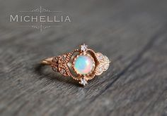 Hey, I found this really awesome Etsy listing at https://www.etsy.com/ca/listing/281029056/vintage-rose-opal-ring-in-14k-or-18k