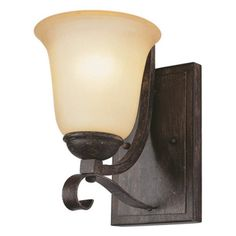 Fireplace wall: Transglobe 3681 ABR Wall Sconce - Antique Brown Rust - 5.75W in.