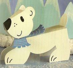 OH MY FIESTA!: Osito polar de papel. Juguetes de papel.