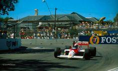 Adelaide hairpin Formula 1, Adelaide South Australia, Alain Prost, Grand Prix, Race Cars, Automobile, Racing, F1, Vehicles