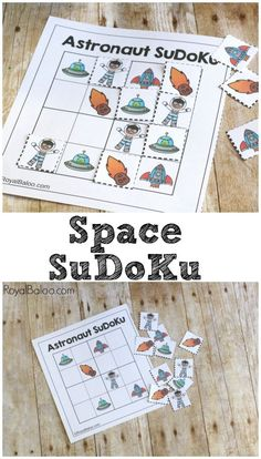 Need a fun activity for a space unit? Space SuDoKu is sure to be a logical hint (in more ways than one...). Free SuDoKu puzzle for kids K-3rd.