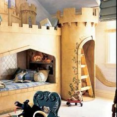 This is incredible! I want a castle bed!