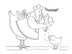 riscos de galinha para pintar - semaninha da mamãe galinha