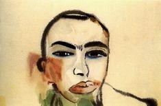 Clemente, Francesco (1952- ) - 1984 Self Portrait (State Museum of Berlin)