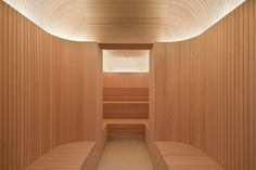 High-style sauna at the Akasha Spa, Hotel Cafe Royal London designed by David Chipperfield London Hotels, Spa London, London Cafe, Spa Design, Royal Design, Saunas, Riads In Marrakech, Wellbeing Centre, Wellness Center