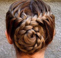French braid cris bun