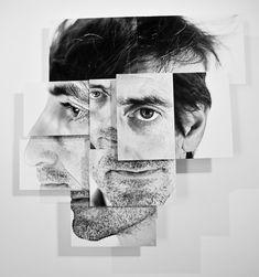 French artist Brno Del Zou has created portrait photo-sculpture series