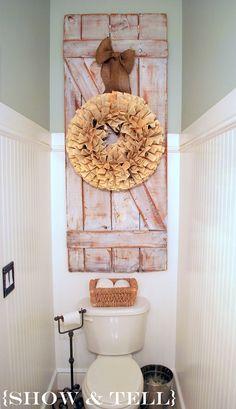 Barn Door, Book Wreath, Burlap Ribbon