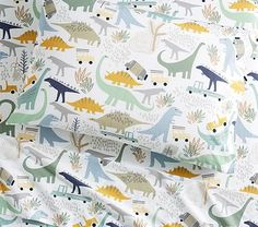 Organic Mason Dino Friends Sheet Set | Pottery Barn Kids
