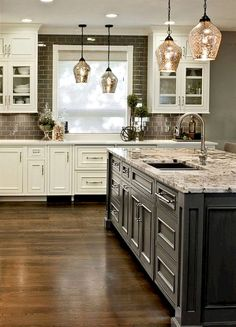 150 gorgeous farmhouse kitchen cabinets makeover ideas (57) #KitchenDesign
