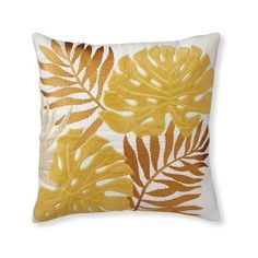 Williams-Sonoma Palm Leaf Velvet Applique Pillow Cover ($149) ❤ liked on Polyvore featuring home, home decor, throw pillows, white accent pillows, white toss pillows, velvet throw pillows, embroidered throw pillows and coastal throw pillows