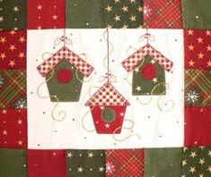 1000 ideas about patchwork navidad on Small Quilts, Mini Quilts, Christmas Sewing, Christmas Crafts, Christmas Placemats, Christmas Quilting, Xmas, Diy Quilt, Fabric Postcards