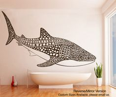 Vinyl Wall Decal Sticker Whale Shark item by Stickerbrand Wall Decal Sticker, Wall Stickers, Ocean Room, Bedroom Themes, Textured Walls, Wall Murals, Wall Art, Wall Decor, Sweet Home