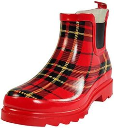 Sunville – Womens Short Ankle Rubber Rain Boots — Special boots just for you. Girls Rain Boots, Red Plaid, Tartan, Boot Shop, Ankle Booties, Rubber Rain Boots, Just For You, Footwear, Booty