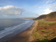 Rhossili Bay in Gower, City and County of Swansea