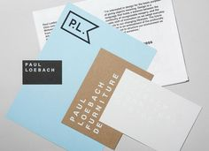 Logo, print and stationery with white ink and unbleached material detail for three dimensional designer Paul Loebach created by Studio Lin
