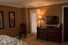 "like color for bedroom ""sherwood tan"" by Benjamin Moore"