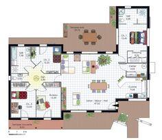 Maison à l'architecture bioclimatique - Détail du plan de Maison à…