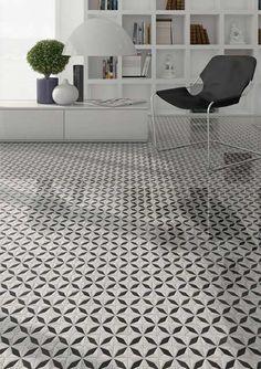 Product: porcelain tiles VIA APPIA, setting: living room
