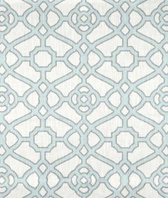 Shop P. Kaufmann Pavilion Fretwork Tropical Blue Fabric at onlinefabricstore.net for $19.55/ Yard. Best Price & Service.