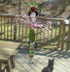 Geisha Girl Dragonfly with Character A by rebeccascreations