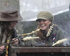 Pin for Later: How Does Kate's Current Pregnancy Stack Up Against Her First One? Kate showed off her camping skills when she attended a volunteer training day for the Scouts in Cumbria, England, on March 22, 2013.
