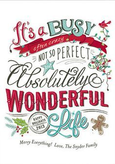 It's a wonderful life...This WILL be incorporated into my Christmas cards next year~~~ <3