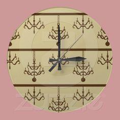 Chic Chandeliers Wall Clocks from Zazzle.com