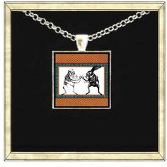 Rabbit Skeleton  Handmade pendant bezel with glass by IttyBaubles, $13.95