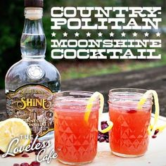 A Tennessee Take on a Classic Cosmo - made with Moonshine!