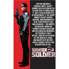 Bucky Barnes ❤ liked on Polyvore featuring marvel