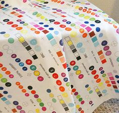Selvage fabric created on Spoonflower by Christina in Portland. She blogs at A Few Scraps.
