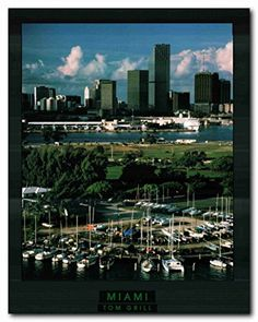 Dallas Texas Skyline At Night City Wall Decor Art Print Poster 16x20